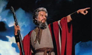 Charlton Heston as Moses in the 1956 movie The Ten Commandments Photograph: Allstar/Cinetext