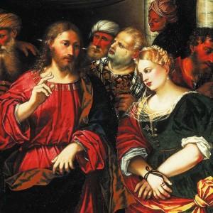 Jesus und die Ehebrecherin von Rocco Marconi