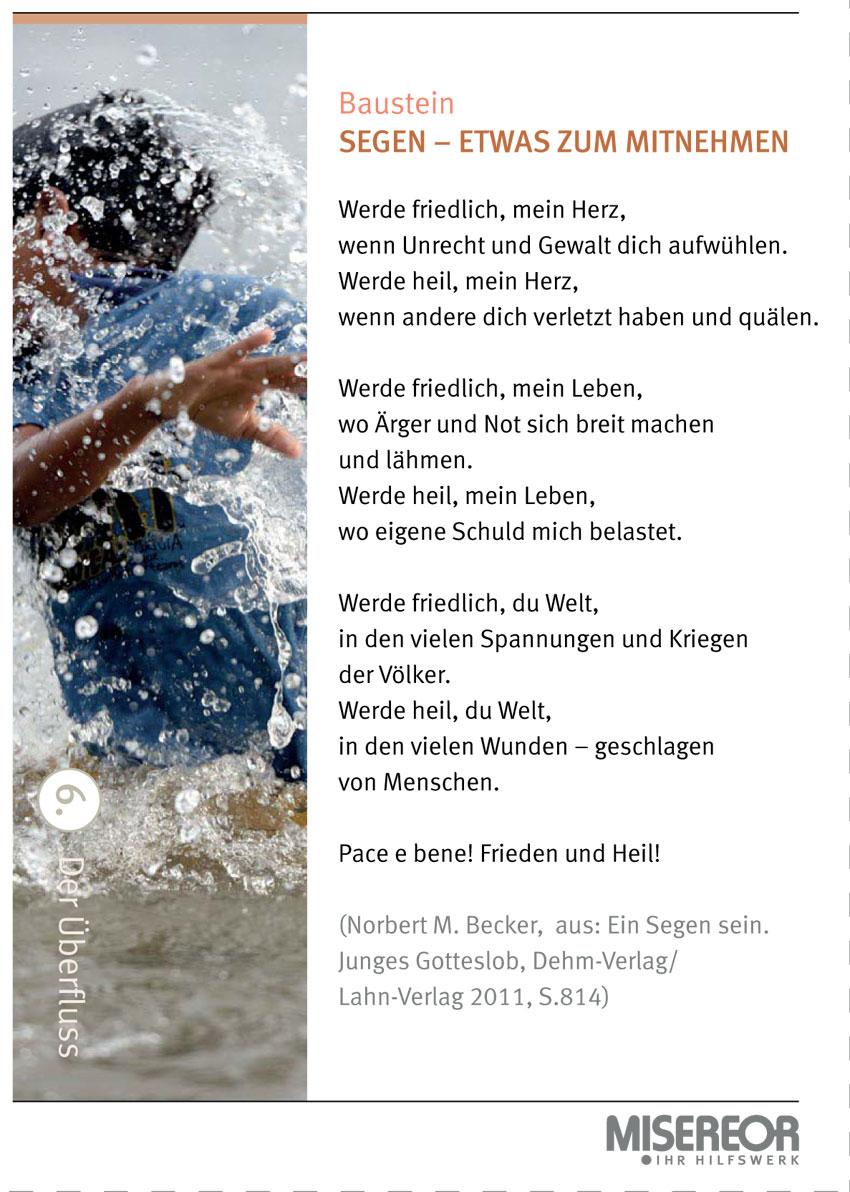 Misereor - Bausteine Früh-/Spätschicht 2016