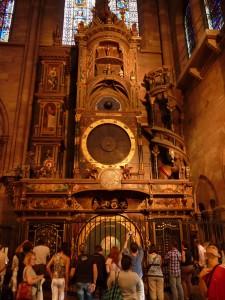 Astronomische Uhr im Strasburger Münster Foto: Guido Schürenberg