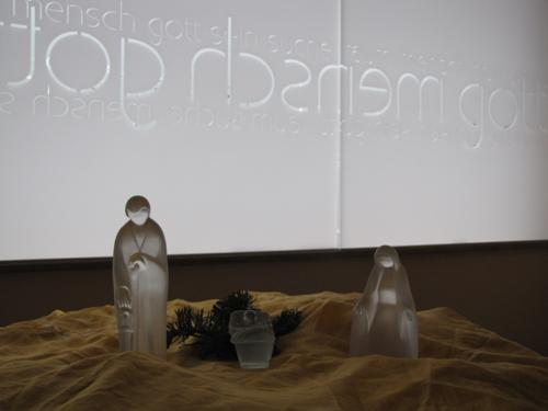 Krippe im Raum der StilleFoto: Guido Schürenberg